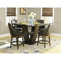 Homelegance Bayshore Counter Height Table and Chair Set - Item Number: 5447-36+36B+4x24S