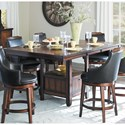 Homelegance Bayshore Counter Height Table and Chair Set - Item Number: 5447-36XL+36XLB+4x24S