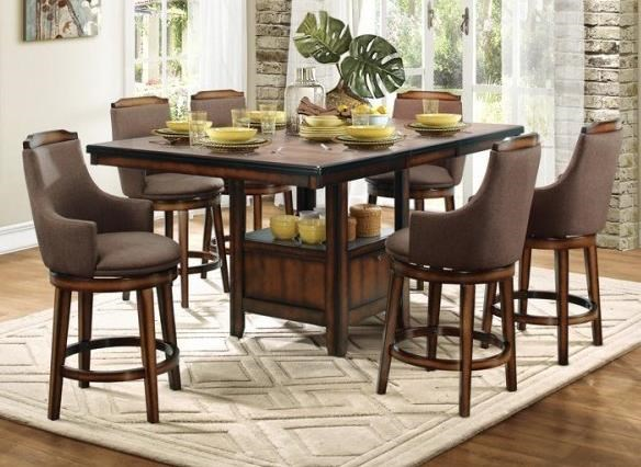 Bayshore Fabric Counter Height Table and Chair Set by Homelegance at Value City Furniture