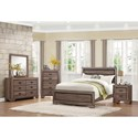 Homelegance Beechnut Contemporary King Headboard and Footboard with Dark Under-Paneling