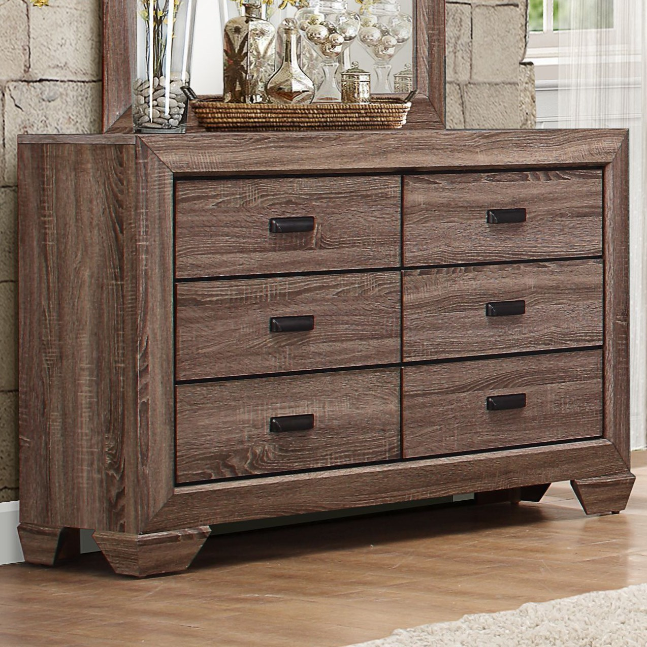 Homelegance Beechnut Contemporary 6 Drawer Dresser With
