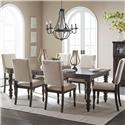 Homelegance Begonia 5 Piece Dining Set - Item Number: 1718GY-90+4XS