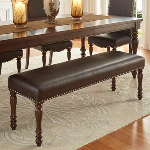 Homelegance Benwick Traditional Dining Bench