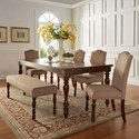 Homelegance Benwick Dining Table and Chair Set with Bench - Item Number: 5425AK-90+4x+13