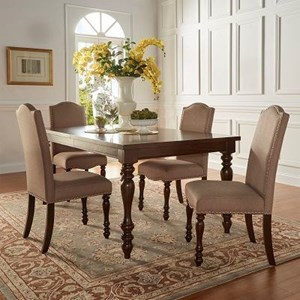 Homelegance Benwick Traditional Dining Table and Chair Set
