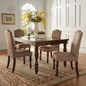 Homelegance Benwick Traditional Dining Table and Chair Set - Item Number: 5425AK-90+4xS