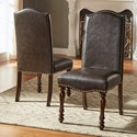 Homelegance Benwick Traditional Dining Side Chair - Item Number: 5425AKS-PU