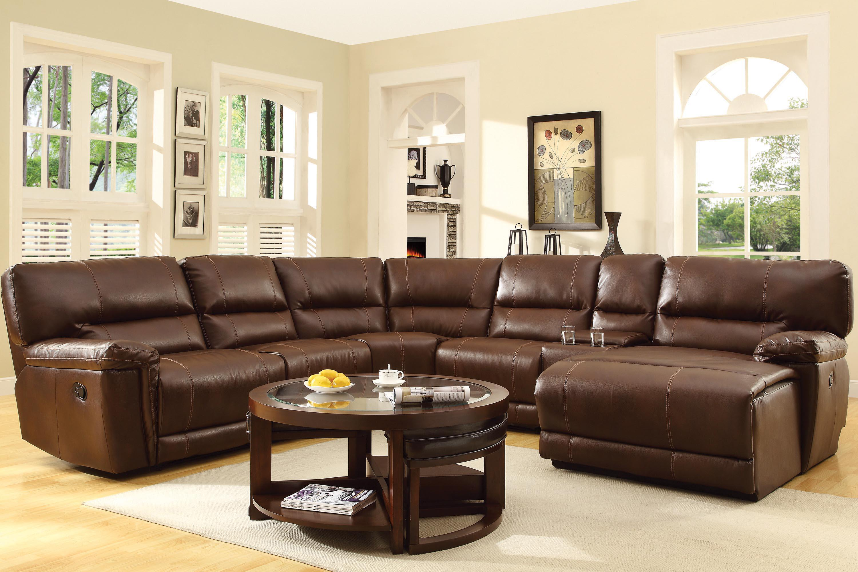 Homelegance Blythe Sectional With Reclining Chaise Michael 39 S Furniture Warehouse Reclining