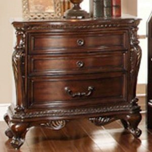 Homelegance Bonaventure - 1935 Traditional 3-Drawer Nightstand