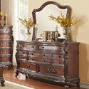 Homelegance Bonaventure - 1935 Traditional 7-Drawer Dresser with Egg and Dart Molding