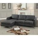 Homelegance Breaux 2 Piece Sectional - Item Number: 8235GY-L+R