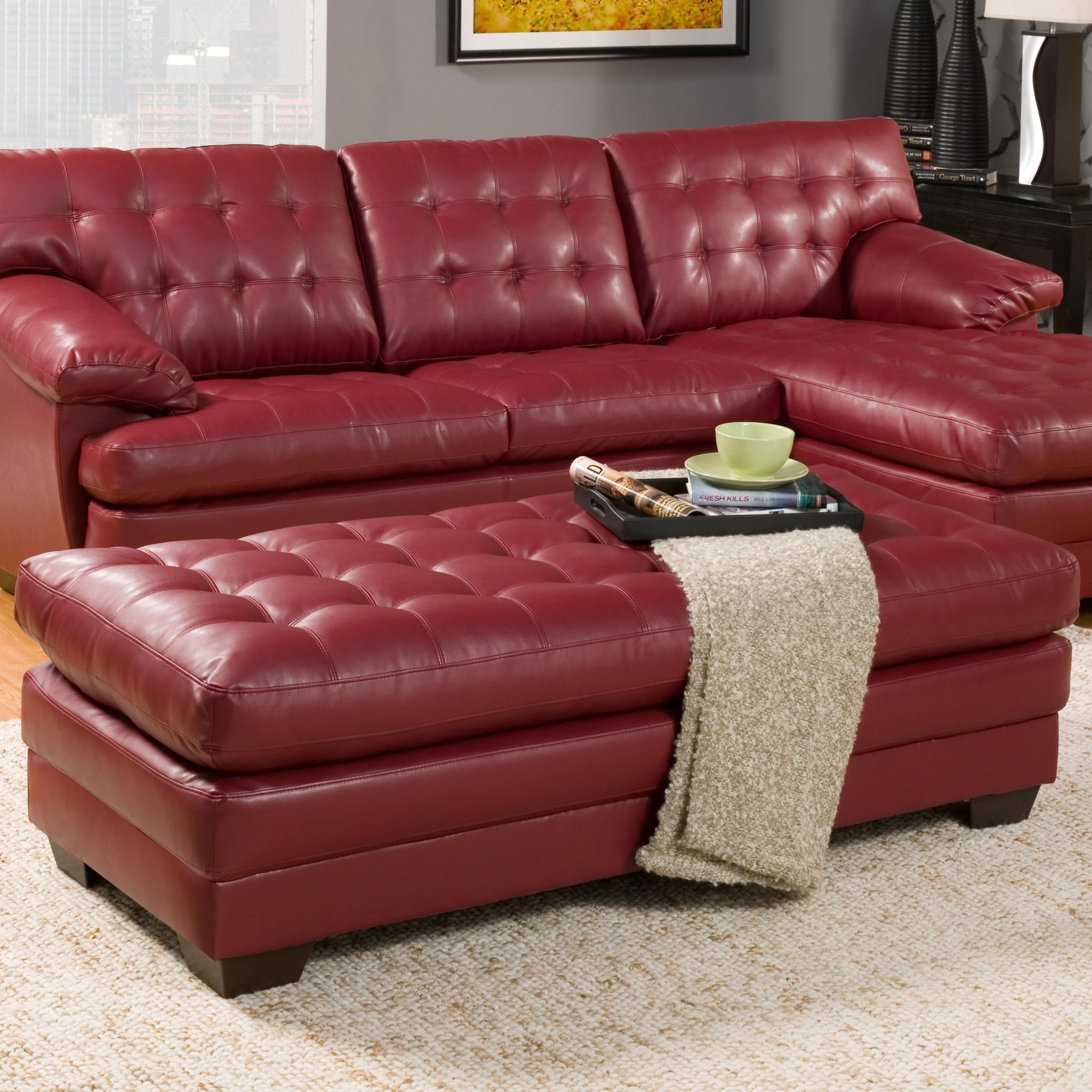 Homelegance Brooks Ottoman - Item Number: 9739RED-4