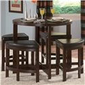 Homelegance Brussel II 5 Piece Counter Height Set - Item Number: 3292-36