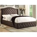 Homelegance Bryndle King Upholstered Bed - Item Number: 1882KN-1EK+2EK+3EK