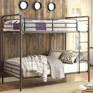 Homelegance Bunk Beds Twin Over Twin Metal Bunk Bed