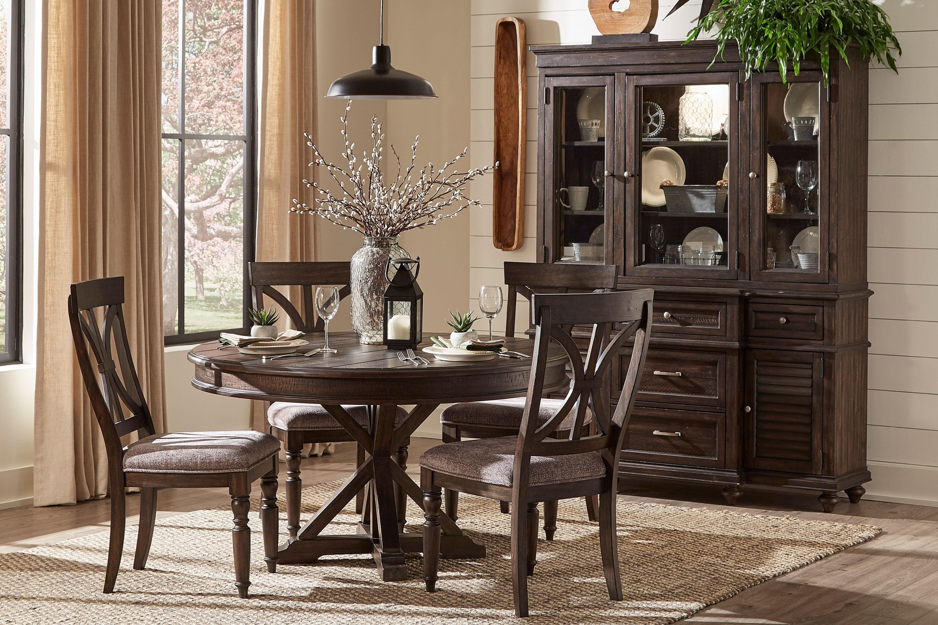 Cardano 5-Piece Round Dining Table by Homelegance at Beck's Furniture