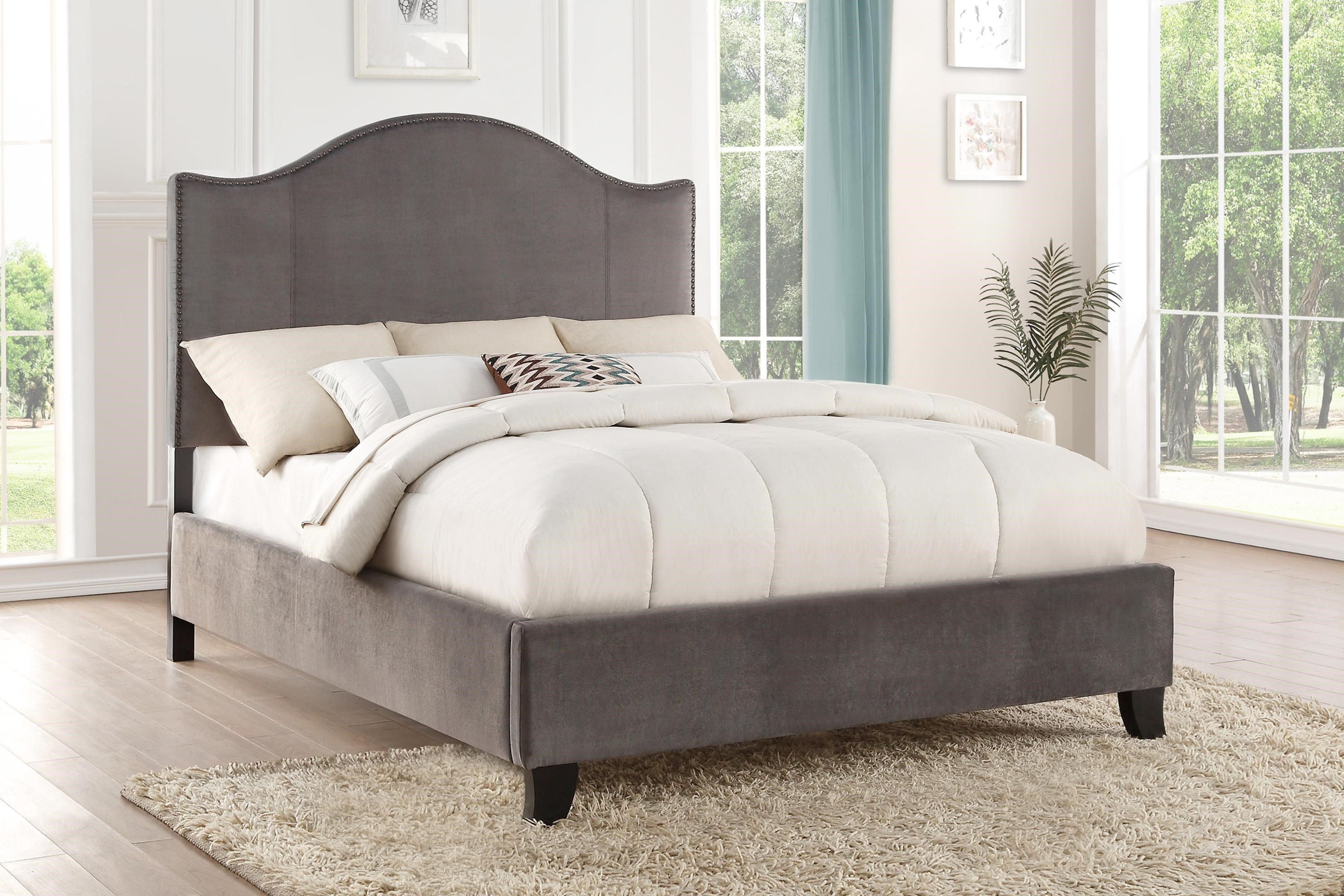 Carlow Cal King Upholstered Bed by Homelegance at Beck's Furniture