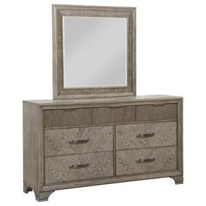 Drawer Dresser and Mirror Set