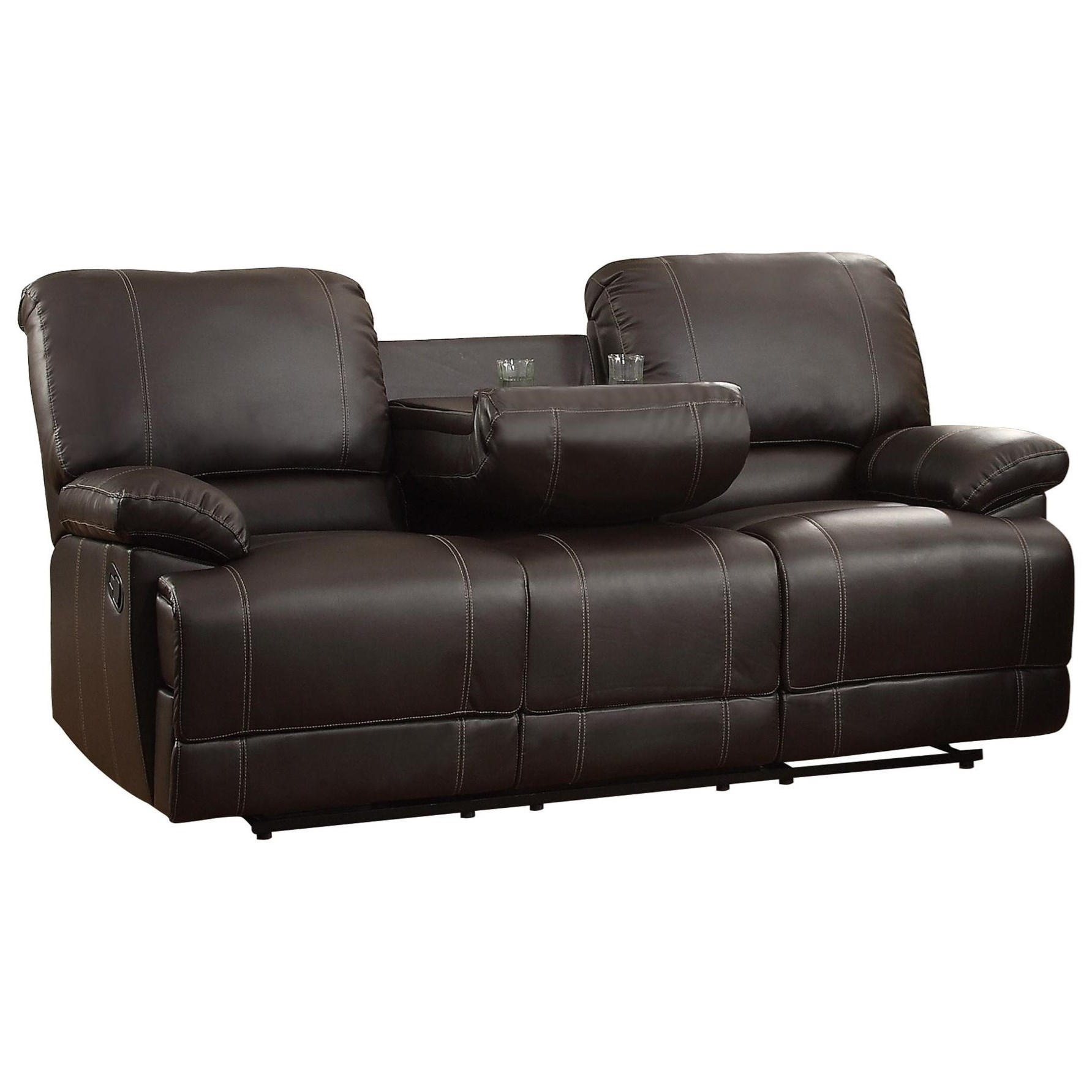 Homelegance Cassville Double Reclining Sofa With Drop Down