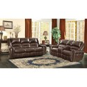 Homelegance Center Hill Power Reclining Living Room Group - Item Number: 9668 Living Room Group 1