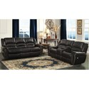 Homelegance Center Hill Power Reclining Living Room Group - Item Number: 9668BLK Living Room Group 1