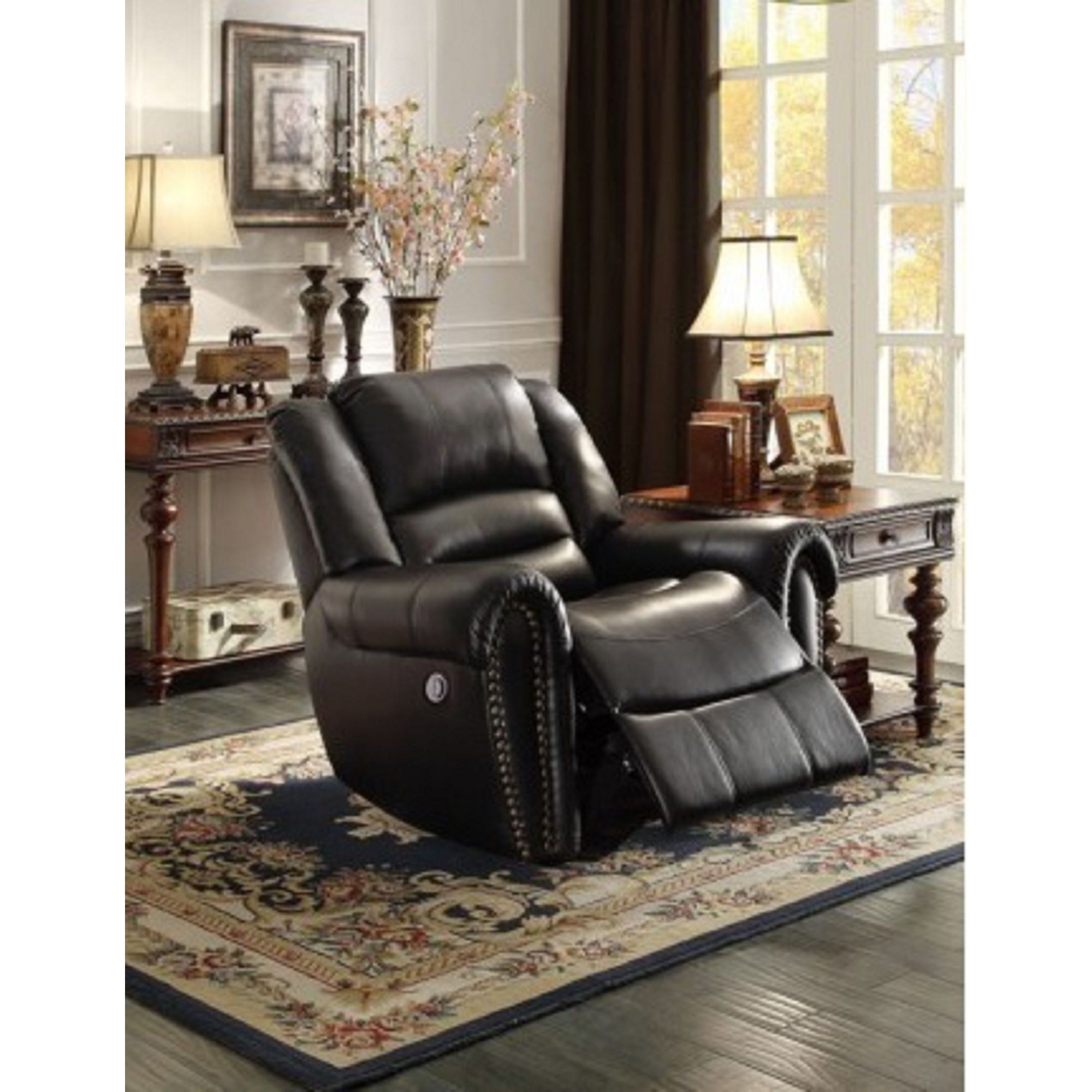 Homelegance Center Hill Traditional Gliding Recliner With Nailhead Trim Value City Furniture