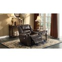 Homelegance Center Hill Gliding Power Recliner - Item Number: 9668BRW-1PW