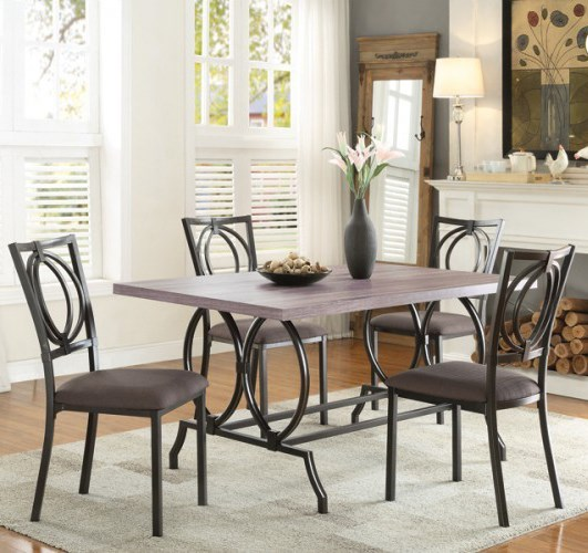 Homelegance Chama Casual Table and Chair Set - Item Number: 5469-60+4xS