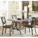 Homelegance Chama Casual Dining Table with Open Design Base