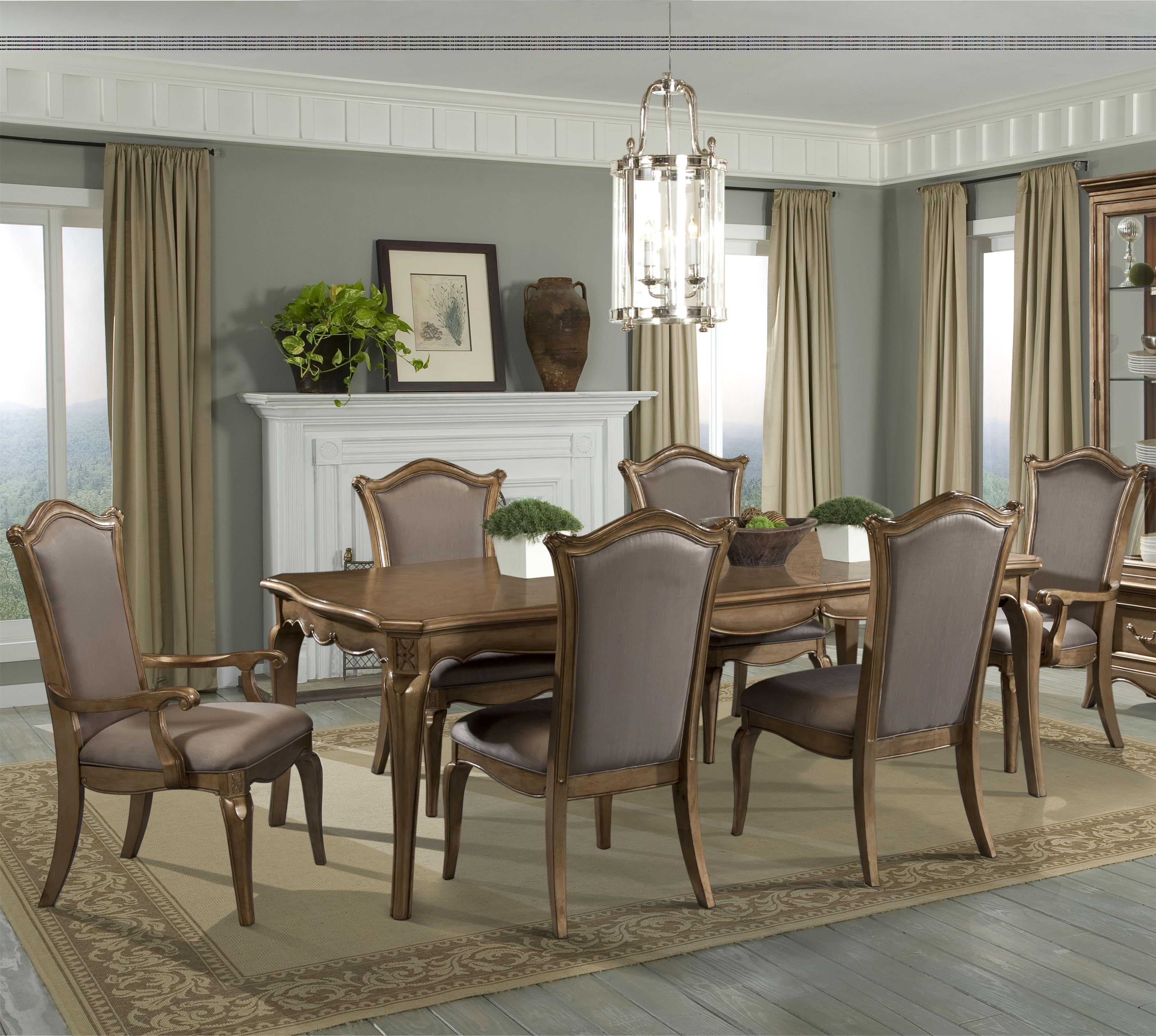 Homelegance Chambord 7 Piece Dining Set - Item Number: 1828-92+2x1828A+4x1828S