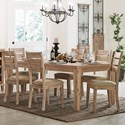 Homelegance Colmar Contemporary Table and Chair Set - Item Number: 5411RF-82+6xS