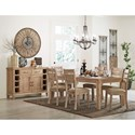 Homelegance Colmar Contemporary Table with Natural Wood Look