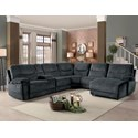 Homelegance Columbus Transitional 6 Piece Sectional - Item Number: 8490FBR-LR+CN+2xAC+CR+RC