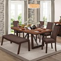 Homelegance Compson Table and Chair Set with Bench - Item Number: 5431-77+77B+5xS+14