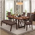 Homelegance Compson 5 Piece Dining Set - Item Number: 5431-77+77B+5xS