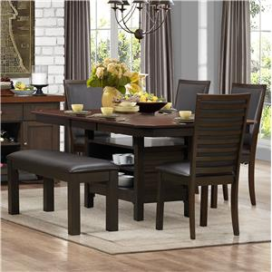 Homelegance Corliss Dining Table & Chair Set with Bench