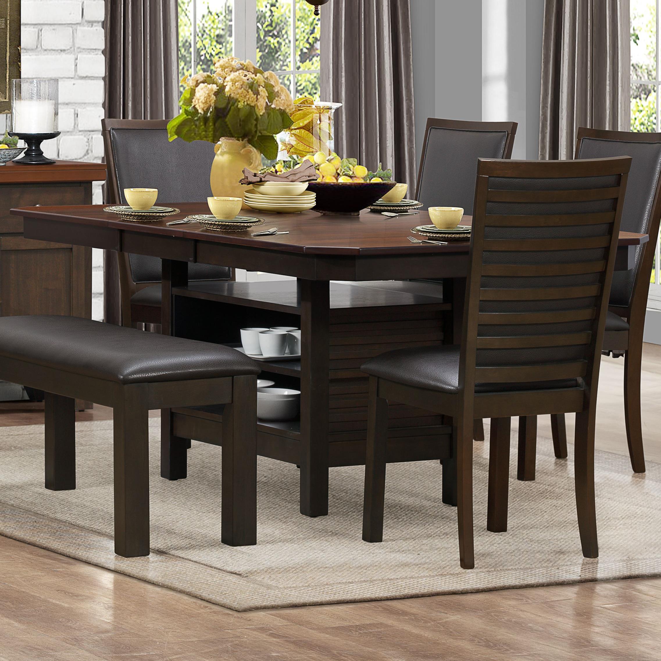 Homelegance Corliss Dining Table with Pedestal - Item Number: 5136-78B+78