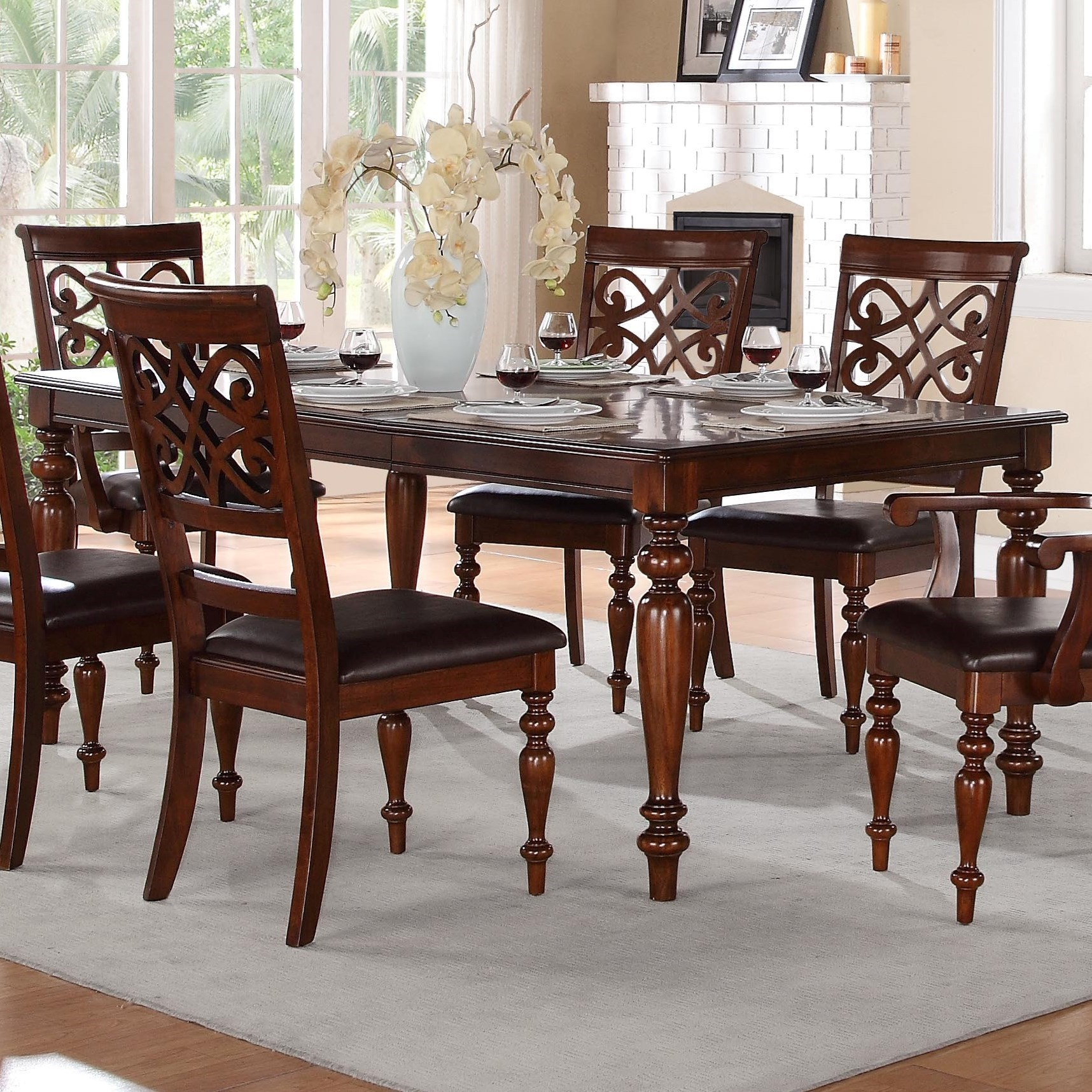 Traditional Dining Room Furniture Sets: Homelegance Creswell 5056-78 Traditional Formal Dining