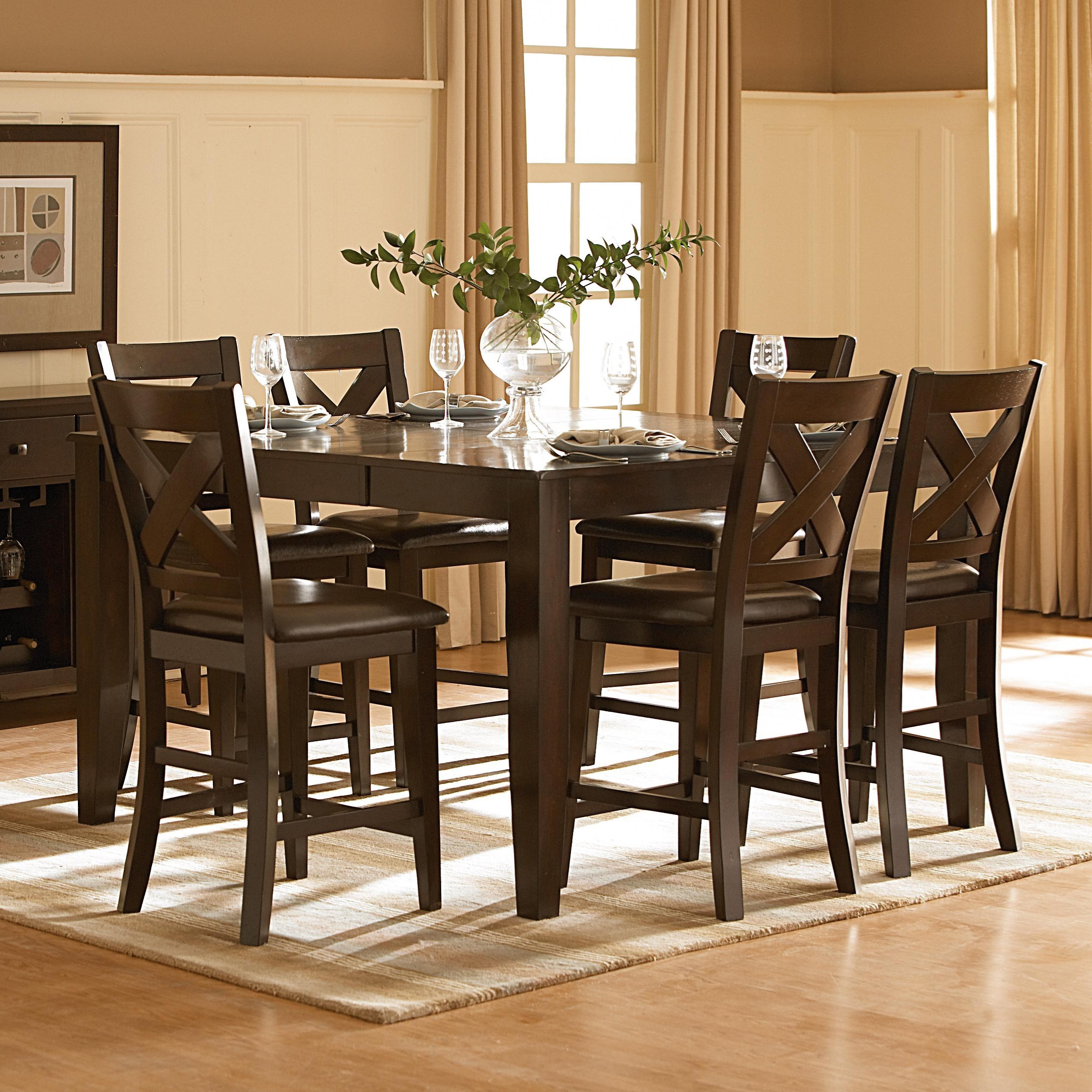 Pub Table and Counter Height Chair Set