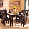 Homelegance Crown Point Formal Dining Table and Chair Set - Item Number: 1372-78+6xS