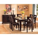 Homelegance Crown Point Transitional Dining Table with 18