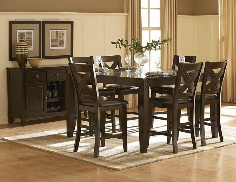 Exceptional Homelegance Crown Point 5 Piece Counter Height Dining Set   Item Number:  1372 36