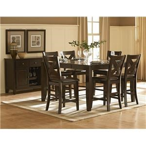 Homelegance Crown Point 5 Piece Counter Height Dining Set