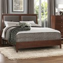 Homelegance Cullen Queen Headboard and Footboard with Vinyl Panels