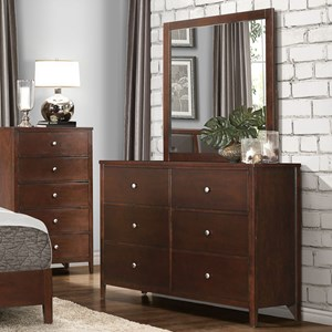Homelegance Cullen Modern 6-Drawer Dresser and Mirror