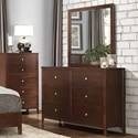 Homelegance Cullen Modern 6-Drawer Dresser and Mirror - Item Number: 1855-5+6