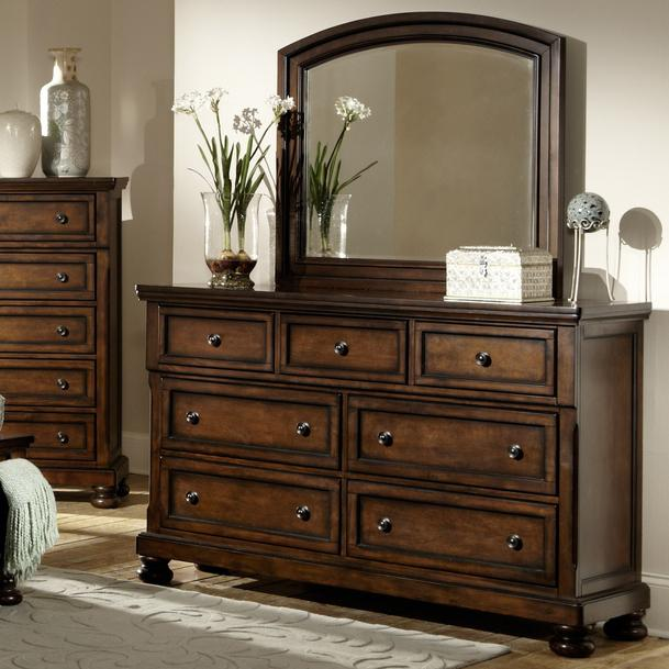 Homelegance Cumberland  Dresser and Mirror - Item Number: 2159-5+6