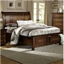Homelegance Cumberland  Transitional King/California King Sleigh Headboard - Item Shown Only Includes Headboard. Frame Sold Separately.