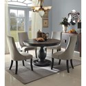 Homelegance Dandelion 5 Piece Chair & Table Set - Item Number: 2466-48+48B+4x2466S
