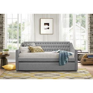 Homelegance Daybeds Tulney Upholstered Daybed w/ Trundle